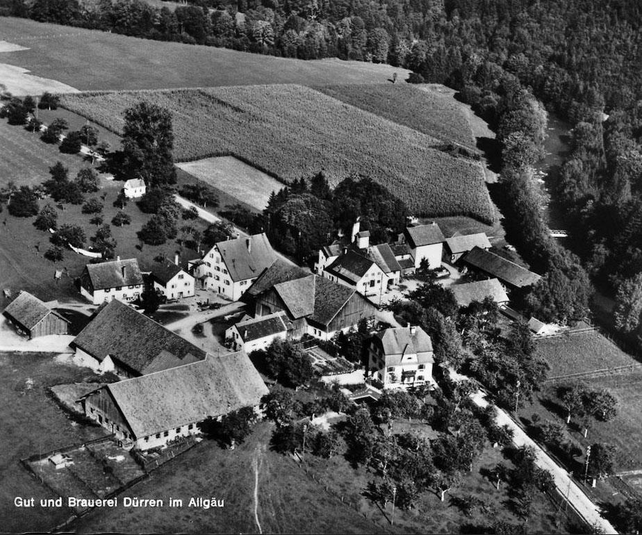 Geschichte - Gut und Brauerei in Dürren im Allgäu